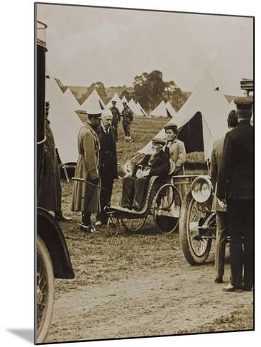 World War I: The British King George V (1865-1936) in a Military Camp--Mounted Photographic Print
