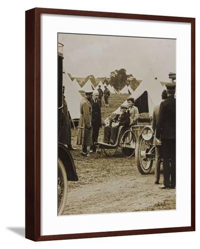 World War I: The British King George V (1865-1936) in a Military Camp--Framed Art Print