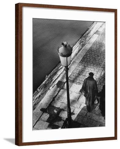Two Elderly People on the River Bank-Dusan Stanimirovitch-Framed Art Print