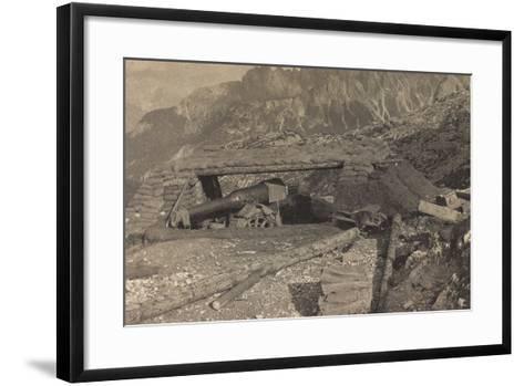 World War I: Military Post with Gun--Framed Art Print