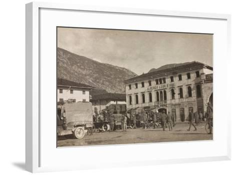 Free State of Verhovac-July 1916: Anti-Aircraft Forces Soldiers in Maniago--Framed Art Print