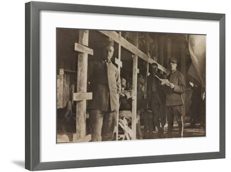 World War I: Italian Soldiers in a Barrack--Framed Art Print