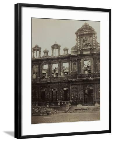 Town Hall in Reims Damaged During the Bombing of World War I--Framed Art Print