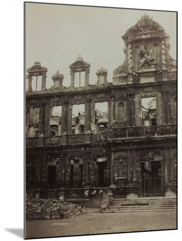 Town Hall in Reims Damaged During the Bombing of World War I--Mounted Photographic Print