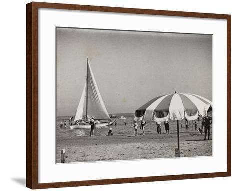 Viaggi Italadria- Rimini: Rimini-Riccione-Cattolica, the Beach--Framed Art Print