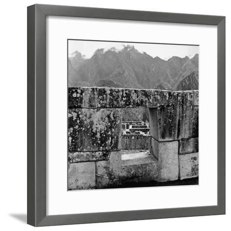 Ruins of the Lost City of the Incas, Seen from an Opening in the Wall-Pietro Ronchetti-Framed Art Print