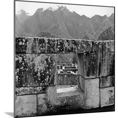 Ruins of the Lost City of the Incas, Seen from an Opening in the Wall-Pietro Ronchetti-Mounted Photographic Print