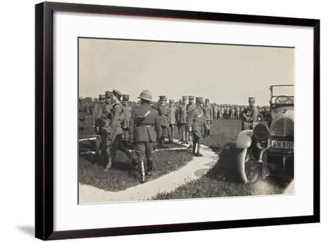 First World War: His Majesty the King Vittorio Emanuele III of Savoy During a Military Parade--Framed Art Print