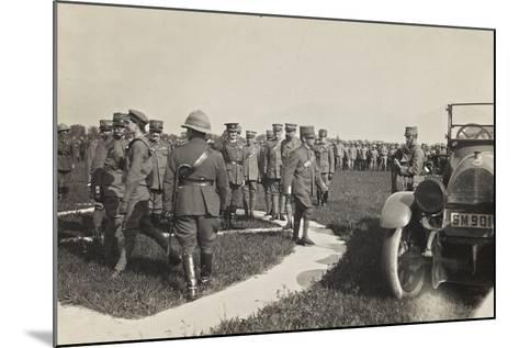 First World War: His Majesty the King Vittorio Emanuele III of Savoy During a Military Parade--Mounted Photographic Print