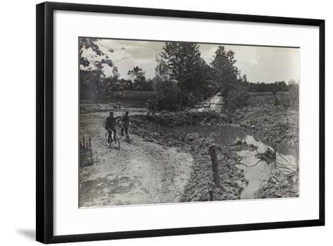 Hole Caused by a Bomb 305 on the Road Breda-Candelù--Framed Art Print