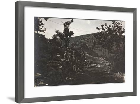 First World War: Group of Soldiers in a Medical Plateau of the Carso--Framed Art Print