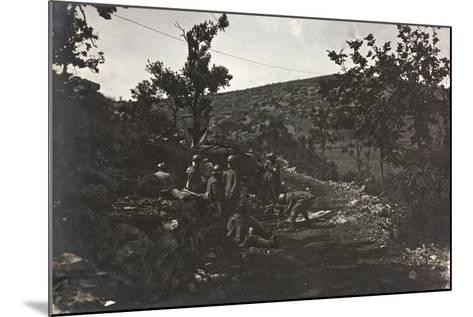 First World War: Group of Soldiers in a Medical Plateau of the Carso--Mounted Photographic Print