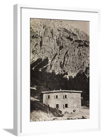 Free State of Verhovac-July 1916: Military Shelter on Mount Vualt--Framed Art Print
