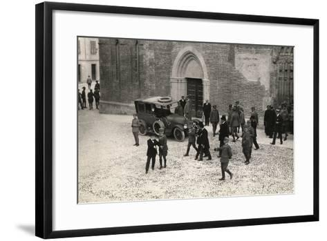 World War I Soldiers with General Porro and General Della Noce Di Caporiacco-Ugo Ojetti-Framed Art Print