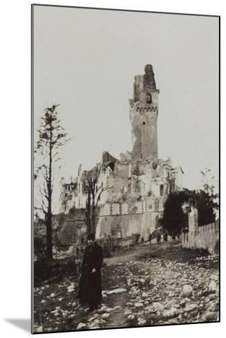 Harriet Self Photographed in the Rubble of the Castle of San Salvatore in Susegana--Mounted Photographic Print