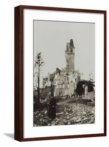 Harriet Self Photographed in the Rubble of the Castle of San Salvatore in Susegana--Framed Art Print