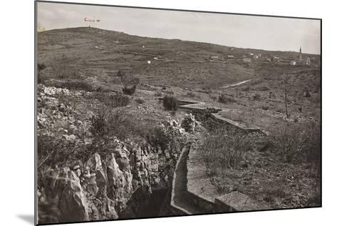 Trenches and on the San Michele--Mounted Photographic Print