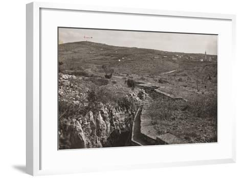Trenches and on the San Michele--Framed Art Print