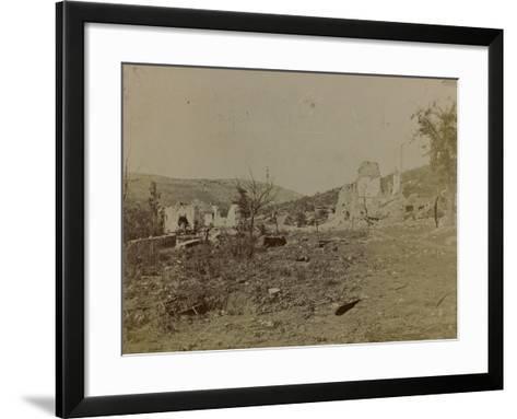 World War I: Mill Pietrarossa Karst Destroyed During the Bombing--Framed Art Print
