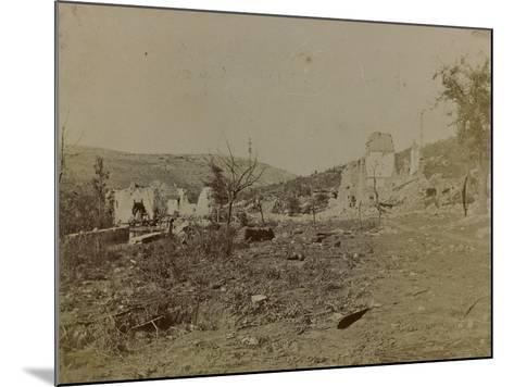 World War I: Mill Pietrarossa Karst Destroyed During the Bombing--Mounted Photographic Print