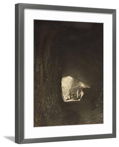 World War I: A Small Tunnel in the Rock on the Road Fork Bois--Framed Art Print