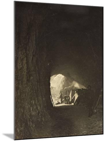 World War I: A Small Tunnel in the Rock on the Road Fork Bois--Mounted Photographic Print