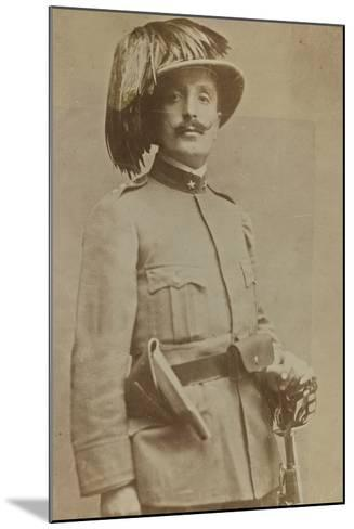 World War I: Portrait of Colonel of Sharpshooters Ragioni--Mounted Photographic Print