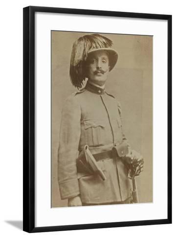 World War I: Portrait of Colonel of Sharpshooters Ragioni--Framed Art Print