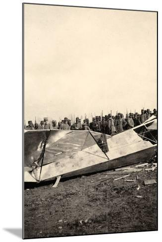 Wreckage of a Fallen Austrian Airplane in Friuli During World War I-Ugo Ojetti-Mounted Photographic Print