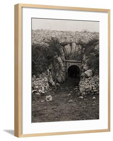 Tunnel at Monte San Michele--Framed Art Print