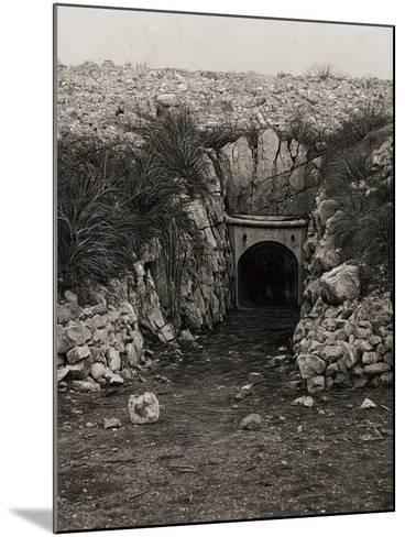 Tunnel at Monte San Michele--Mounted Photographic Print