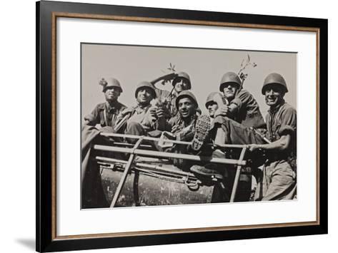 The Brigade Piave Enters Rome-Luigi Leoni-Framed Art Print