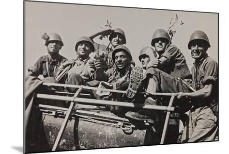 The Brigade Piave Enters Rome-Luigi Leoni-Mounted Photographic Print