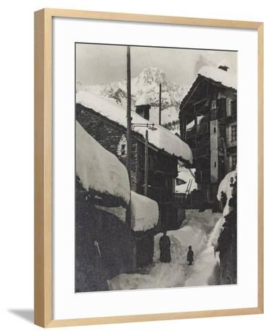 Country in the Snow--Framed Art Print