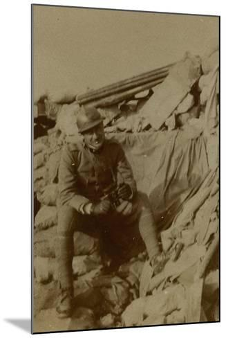 War Campaign 1917-1920: Captain Lecconi at Altitude Mountain 11, Recently Won--Mounted Photographic Print