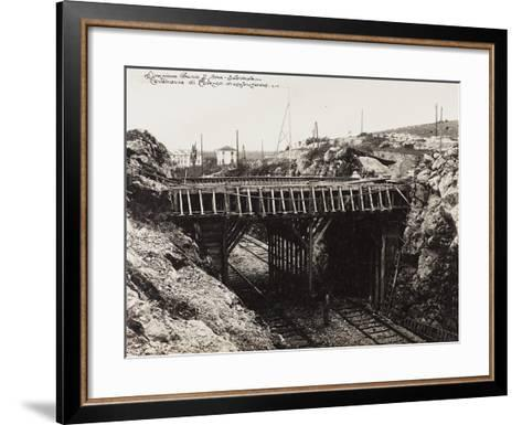 Leadership Corps of Engineers 2nd Area 3rd Army, Construction of Cavalvavia Polazzo During WWI--Framed Art Print