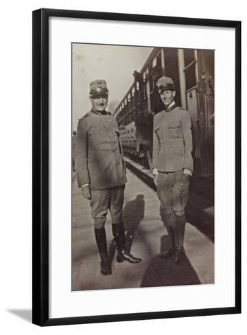 Campagna Di Guerra 1915-1916-1917-1918: Jack Bosio in Uniform with an Officer in Udine--Framed Art Print