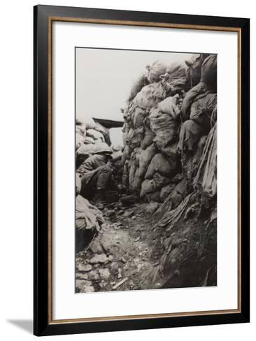 First World War: Soldier in the Trenches--Framed Art Print