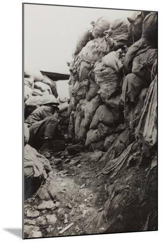 First World War: Soldier in the Trenches--Mounted Photographic Print