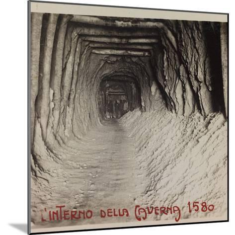 Free State of Verhovac-July 1916: Entrance to the Cave (Cave in 1580)--Mounted Photographic Print