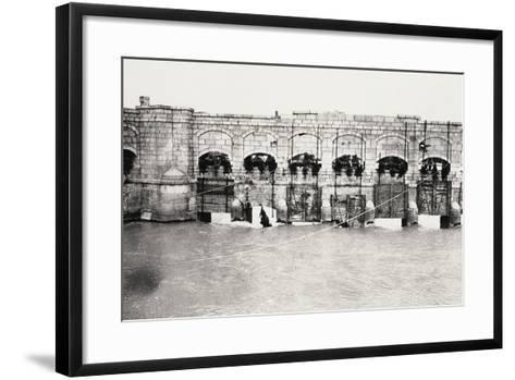 The Sluices on the Isonzo River at Sagrado During World War I-Ugo Ojetti-Framed Art Print