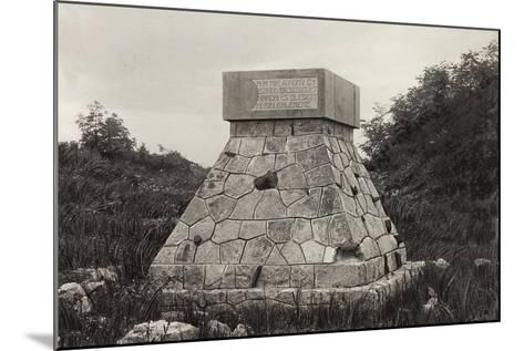 Hungarian Monument to the Fallen, San Martino Del Carso--Mounted Photographic Print