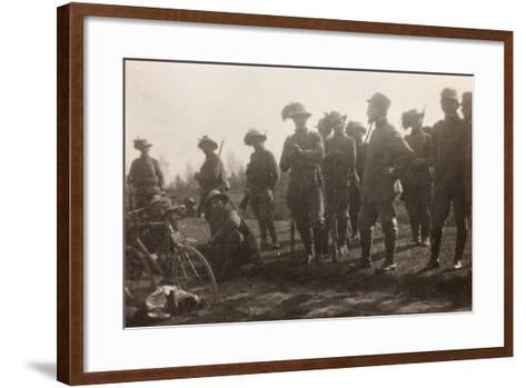 WWI: the Ninth Battalion of the Bersaglieri Cyclists--Framed Art Print
