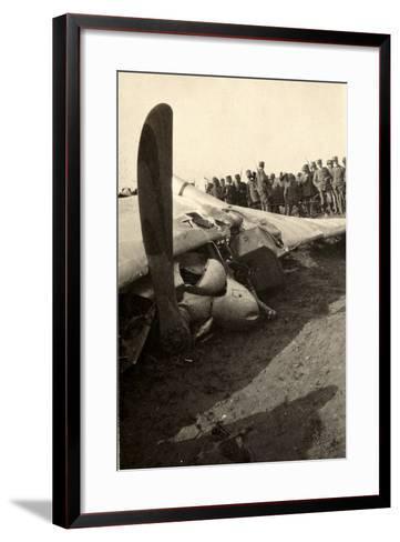 Detail of a Fallen Austrian Airplane in Friuli During World War I-Ugo Ojetti-Framed Art Print