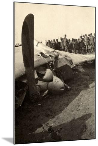 Detail of a Fallen Austrian Airplane in Friuli During World War I-Ugo Ojetti-Mounted Photographic Print