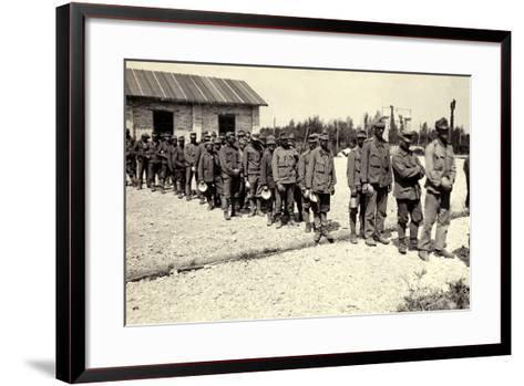 Austrian Prisoners in Bagnaria Arsa During World War I-Ugo Ojetti-Framed Art Print