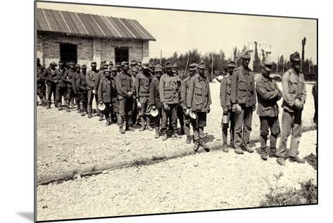 Austrian Prisoners in Bagnaria Arsa During World War I-Ugo Ojetti-Mounted Photographic Print