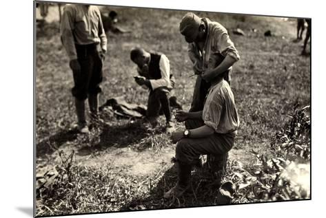 Austrian Prisoners During World War I in Bagnaria Arsa-Ugo Ojetti-Mounted Photographic Print