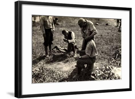Austrian Prisoners During World War I in Bagnaria Arsa-Ugo Ojetti-Framed Art Print