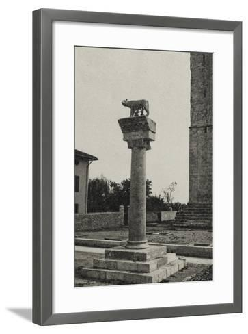 Visions of War 1915-1918: Column with the She-Wolf of Rome and the Date 1915-Vincenzo Aragozzini-Framed Art Print